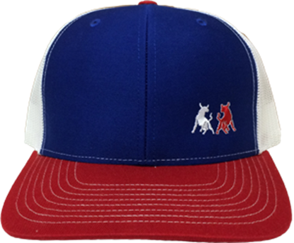 Picture of TwoBulls Mesh Cap - Red, White & Blue - Bulls