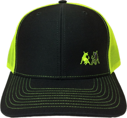 Picture of TwoBulls Mesh Cap - Charcoal & Neon Yellow