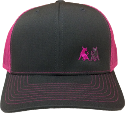 Picture of TwoBulls Mesh Cap - Charcoal & Hot Pink